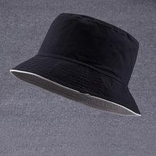 f35da80980c Male Summer Two Sides Wear Fisherman Hat Woman Outdoors Sun Hat Men 100%  Cotton Plain