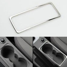 For Skoda Octavia a7 2015 2016 Decoration Cover Sticker Auto Accessories Stainless Steel Car Interior Water Cup Holder Frame