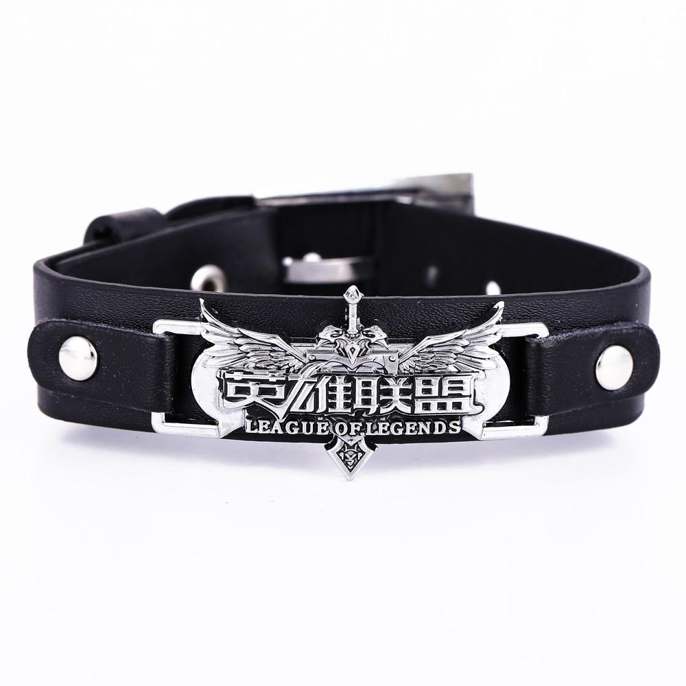 Bracelets in Movie&Anime Leather bracelets LOL game Cosplay League&Legends bracelets Punk fashion bangles accessories bracelets Браслет