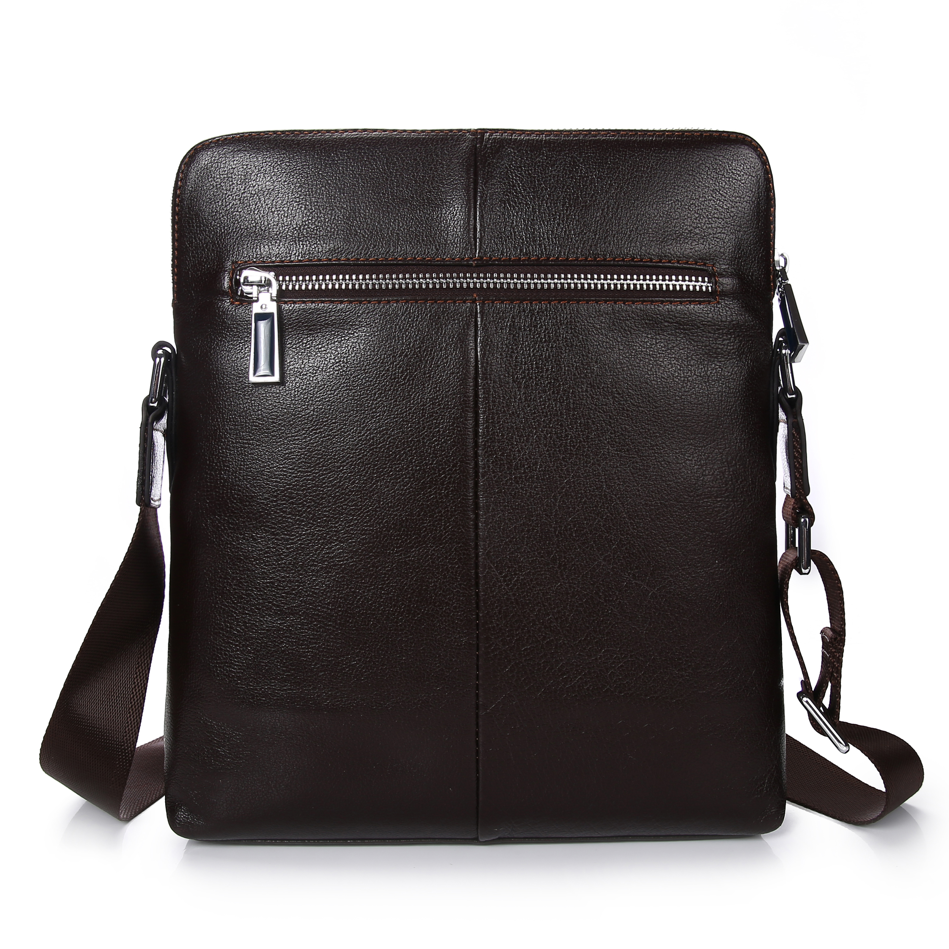 Men Crossbody Bag Genuine Leather Cowhide Business Handbags For Man One Shoulder High Casual Handbag Quality Briefcase In Bags From