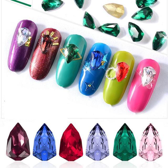 3d Charm Alloy Rhinestones Nail Art Decorations Perfume Bottle Bow ...