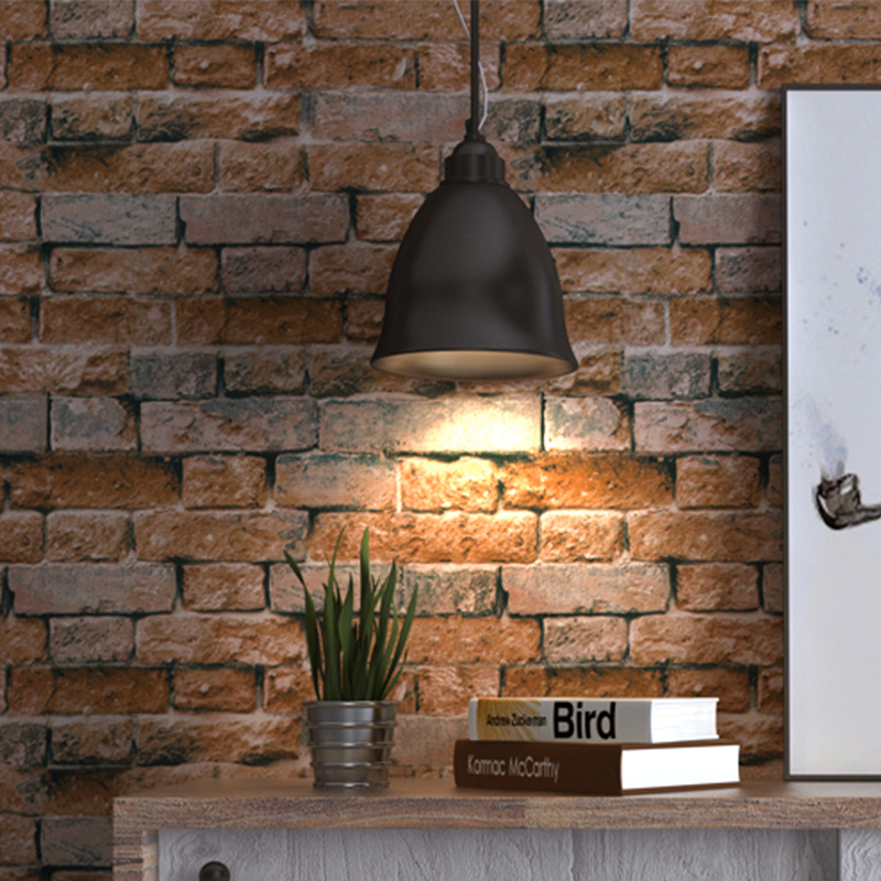 Deep Embossed 3D Brick Wallpaper Modern Vintage Stone PVC Wall Paper Restaurant Cafe Background Wall Decor Vinyl Retro Wallpaper цены