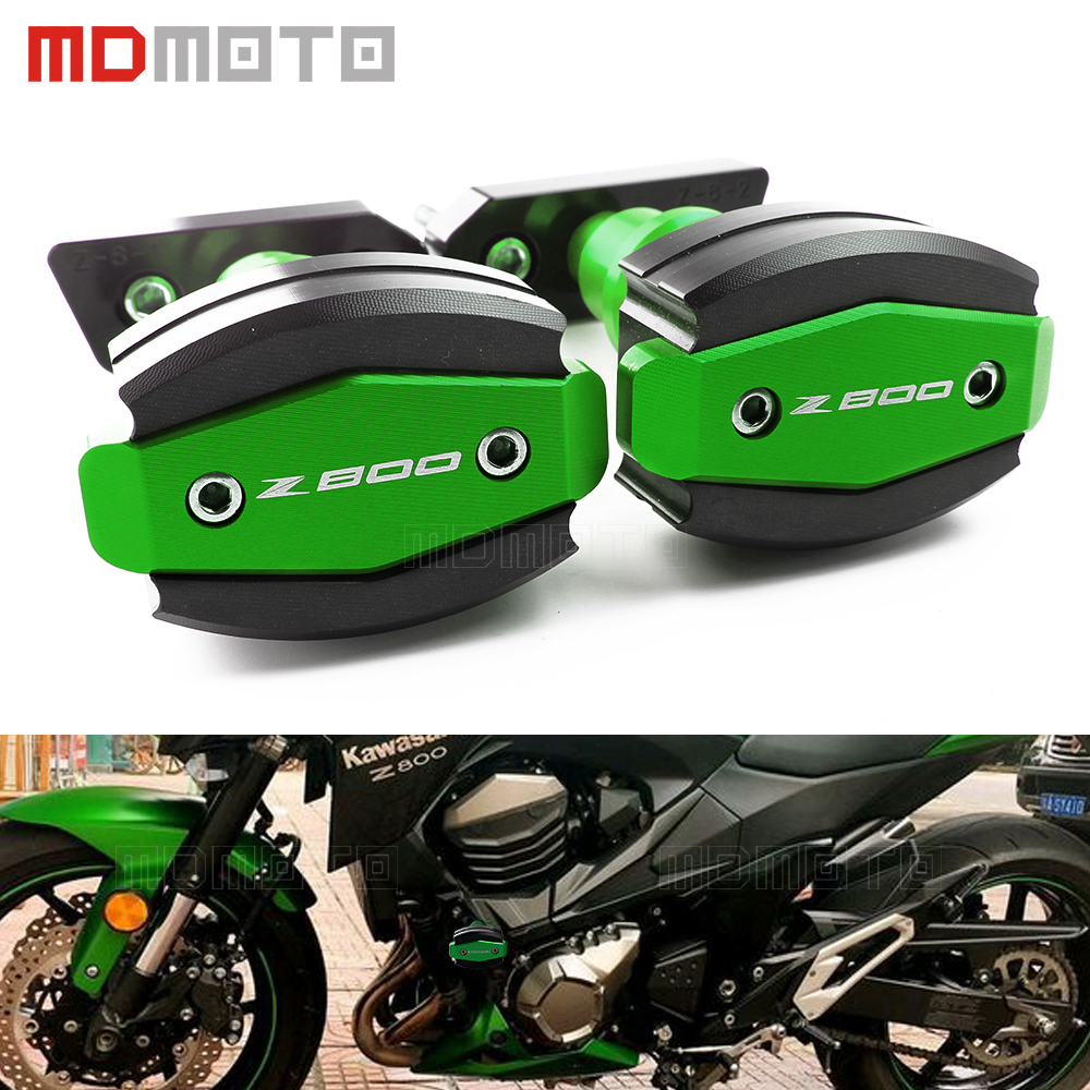 for kawasaki Z800 Z 800 2013 2014 2015 CNC Motorcycle Crash Pads Frame Sliders Protector Left&Right Motorbike accessories parts motorcycle cnc crash pads frame sliders protector for kawasaki z800 z 800 2013 2014 black