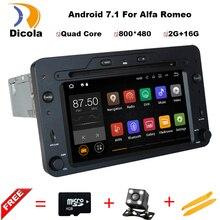 Android 7.1 4 ядра 2 ГБ автомобильный DVD GPS навигации игрока стерео для Alfa Romeo spider 2006 Радио головного устройства Bluetooth WI-FI