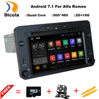 Android 7 1 Quad Core 2GB Car DVD GPS Navigation Player Car Stereo For Alfa Romeo