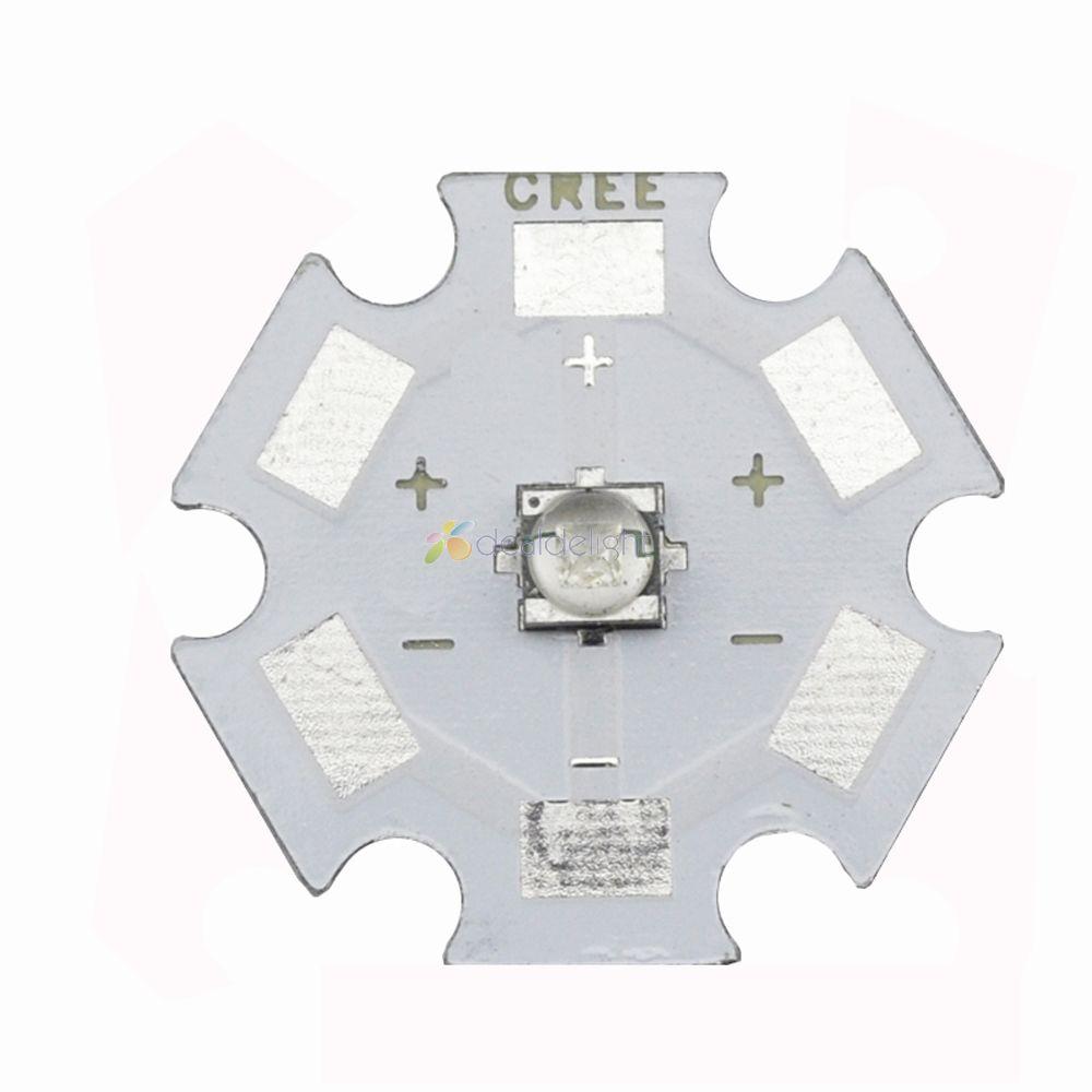 5pcs Cree XT-E 1W-5W Royal Blue 450NM-452NM XTE High Power LED Emitter Bulb with 20mm star Base For Plant Grow