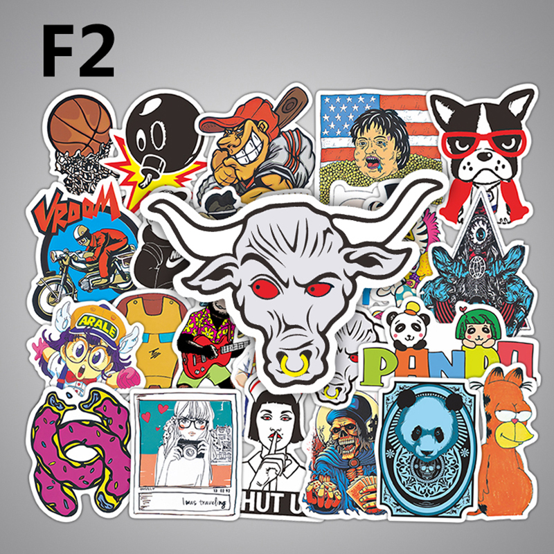 50 Pcs Anime Super Hero Stickers Kids Cartoon Skateboard Notebook Backpack Laptop Sticker DIY Creative Decal Sticker