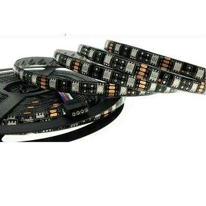 Image 3 - LED Strip 5050 Black PCB DC12V Flexible LED Light 60 LED/m 5m/lot RGB 5050 LED Strip.5m/lot