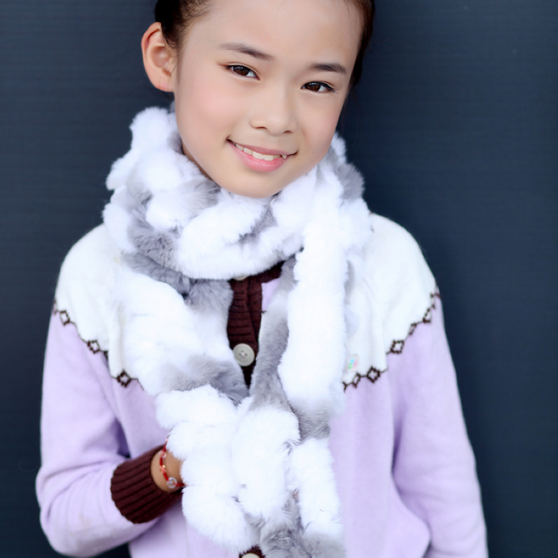 Children's Winter scarf Fancy Rabbit fur muffler Scarf Girl's all-match rabbit fur scarves shawls Free shipping FSOL033 набор азбука тойс морские обитатели рм 0006