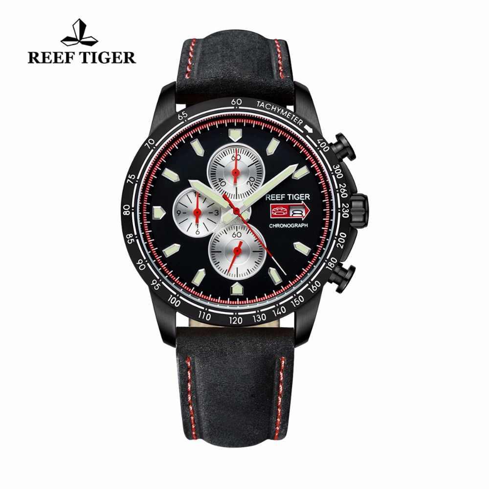 שונית טייגר/RT זוהר ספורט לצפות עבור גברים עם תאריך פלדת שעון עם זוהר סמני הכרונוגרף קוורץ שעונים RGA3029