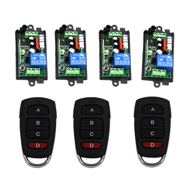 ФОТО Wireless Remote Relay ON/OFF 1 Channel Remote Control Switch 110V 220V RF Remote Switch for Gate Garage Door SKU: 5134