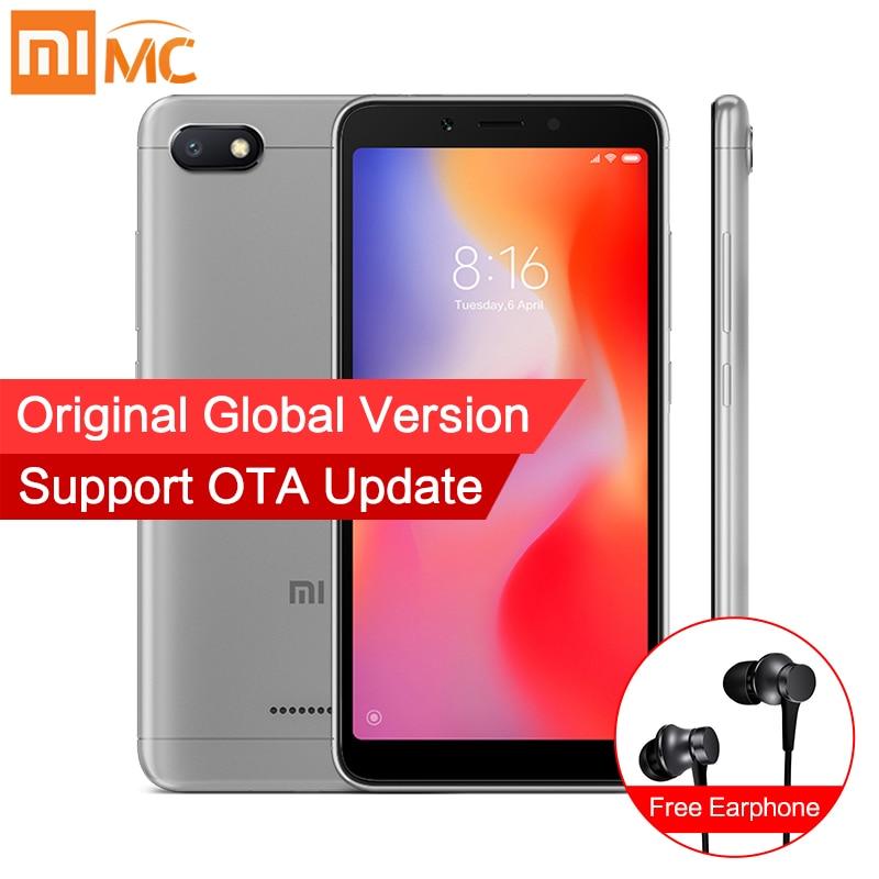 Versión Global Xiaomi Redmi 6A 2 GB 32 GB Android 8,1 Smartphone 5,45 ''Pantalla Completa Helio A22 Quad Core 13MP Cámara AI desbloquear la cara