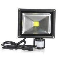 20W PIR LED Flood Light Motion Sensor Outdoor Lighting Waterproof IP65 AC85 256V Induction Garden Floodlight