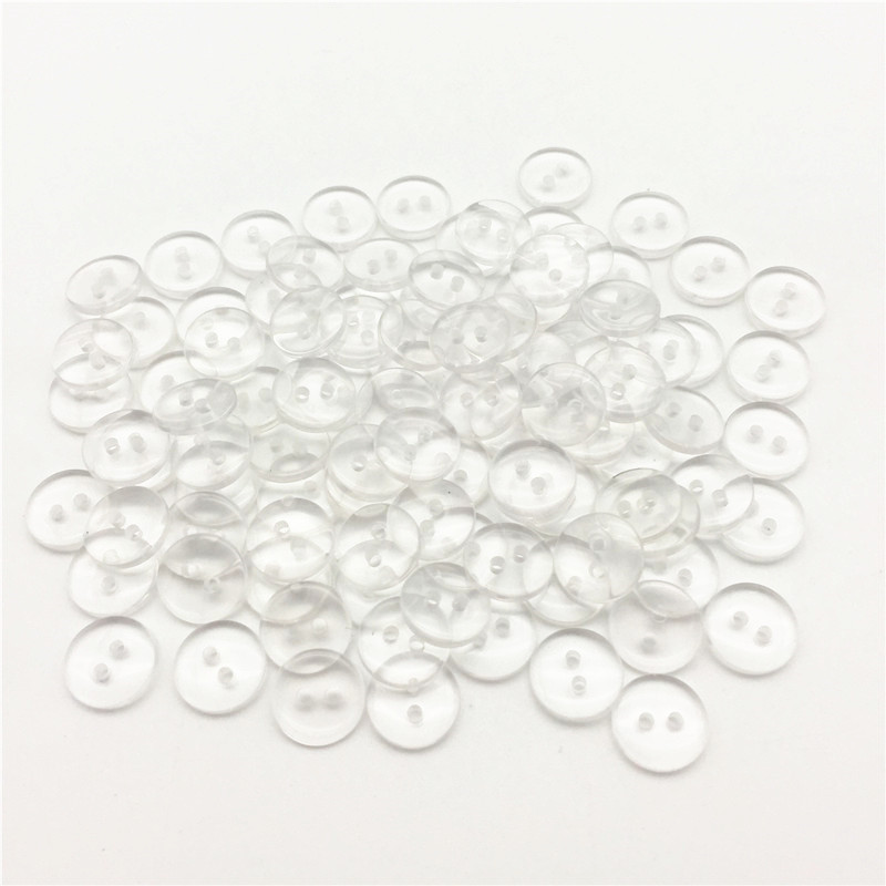 5 x gorgeous clear clover flower buttons 2 holes 13mm 15mm 18mm /& 20mm