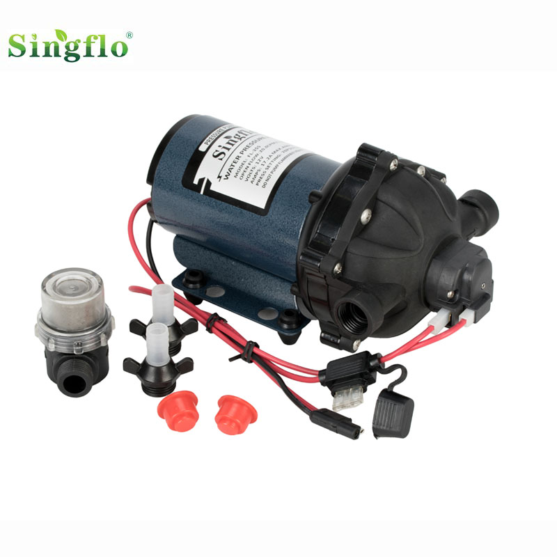 Singflo 12V 5-Chamber 70psi 20L/min water pressure pump Washdown Deck Pump Kit for Boat Marine