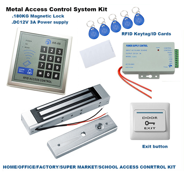 Rfid Singledouble Door Access Control System Kit 180kg Electric