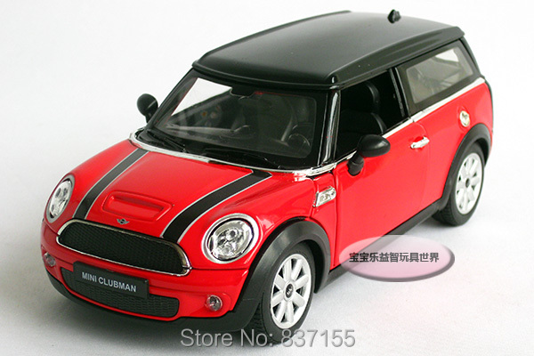 New 1 24 Mini Cooper Clubman Alloy Diecast Car Model Toy Collecion