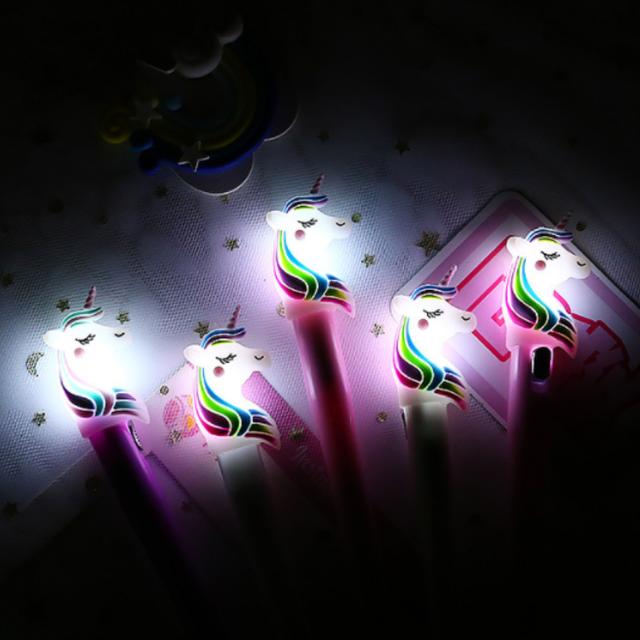 Cute Luminous Unicorn Design Gel Pen