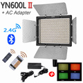 YONGNUO YN600L II 5500K 2.4G Bluetooth YN600 II 600 LED Light Panel with AC Power Adapter and 4 Colors Gels