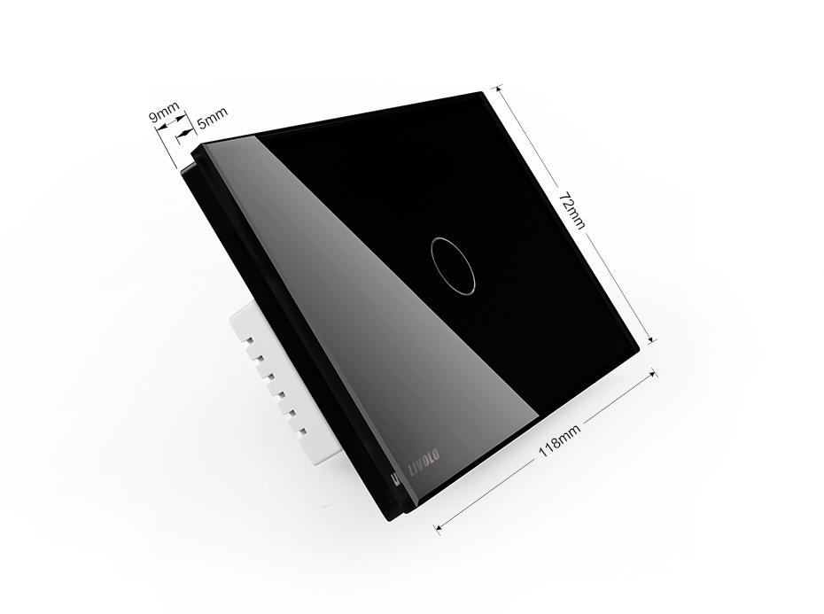 Livolo US/AU стандартный настенный светильник, беспроводной дистанционный диммер, AC110~ 250 В, белая стеклянная панель, VL-C301DR-81, без пульта дистанционного управления