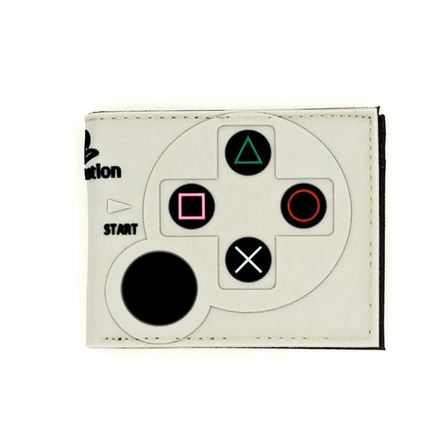 3D Game wallet playstation handle cardholder short wallet with zipper for boy girl cool gift PS Wallet Kids Wallets