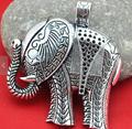 Wholesale DIY Accessory Jewelry Making - 55X62MM 2PCS Antique Silver Large Elephant Charm Pendants
