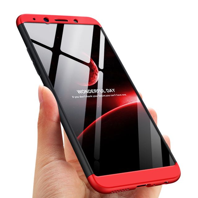 classic fit 4bc19 12024 US $4.99 |360 Degree Full Protection Hard Case For OPPO Realme Real me Back  Cover shockproof case For OPPO Realme Full case + glass film-in Fitted ...