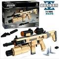 P22002 767 unids Educativos Para niños Bloques de Construcción Ensambladas Juguete Pistola pistola de Policía Súper Armamento compatiable con ladrillo