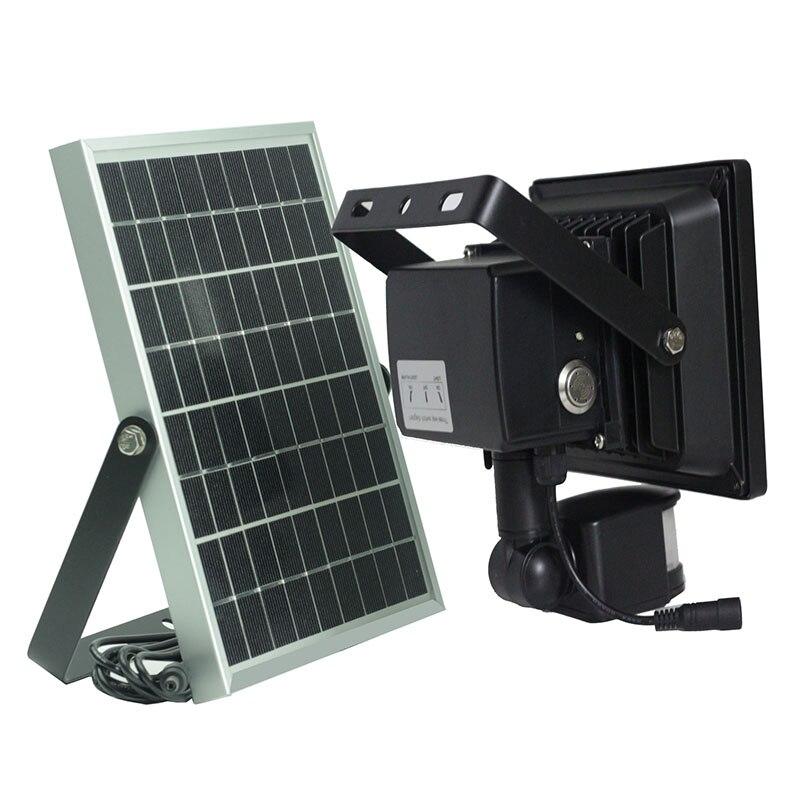 2019new 20 w led jardim luz de advertencia buzzer luz solar com sensor nocao lampada alarme