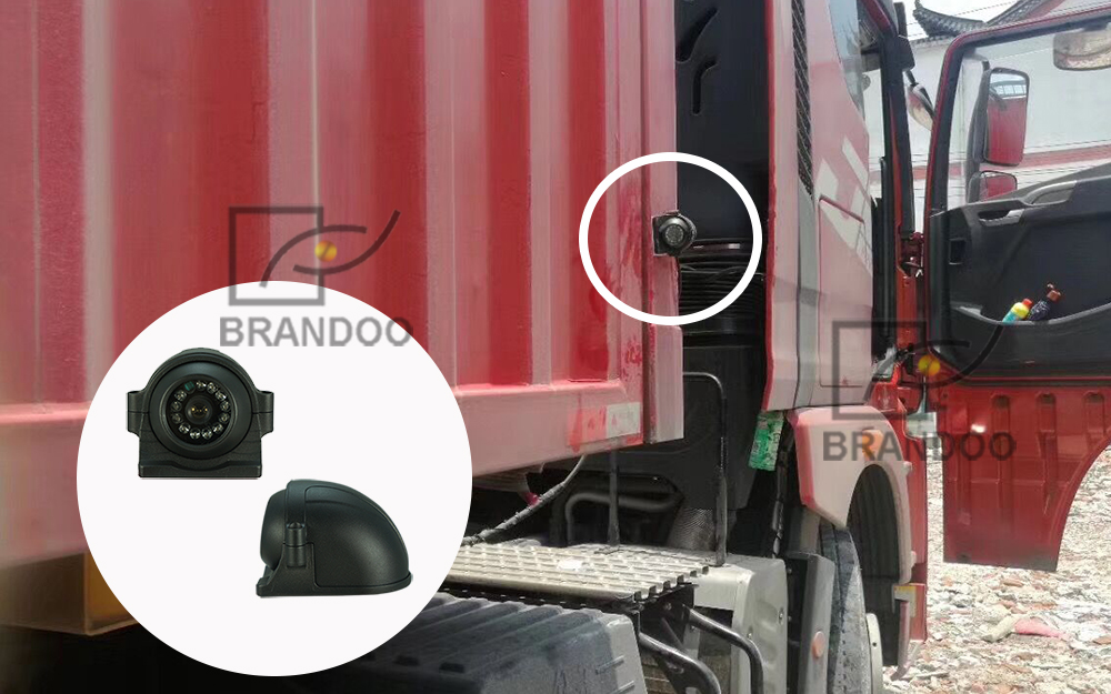 Side camera on truck