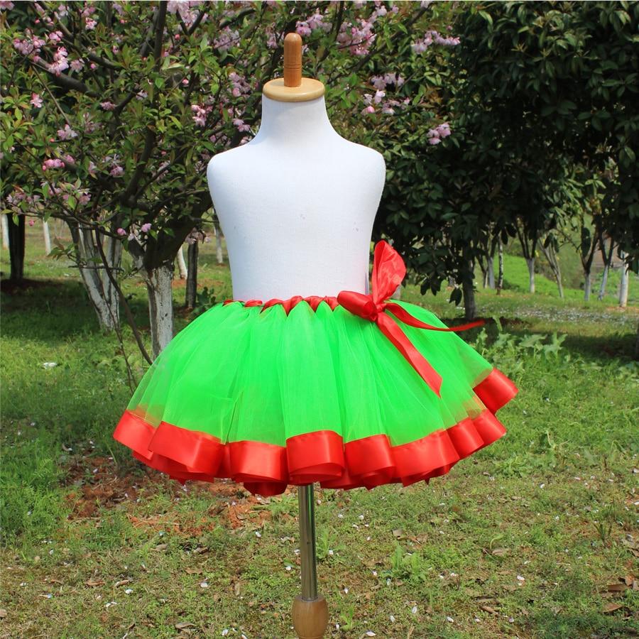 Mädchen Tutu Rock Rot und Grün Weihnachten Ballkleid Rock Pettiskirt Mädchen Röcke für 2-12 Jahre Kinder Baby ballett Tanzen rock