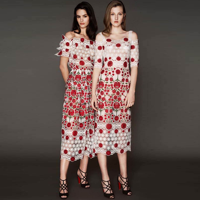 Sexy Embroidery Lace Dresses