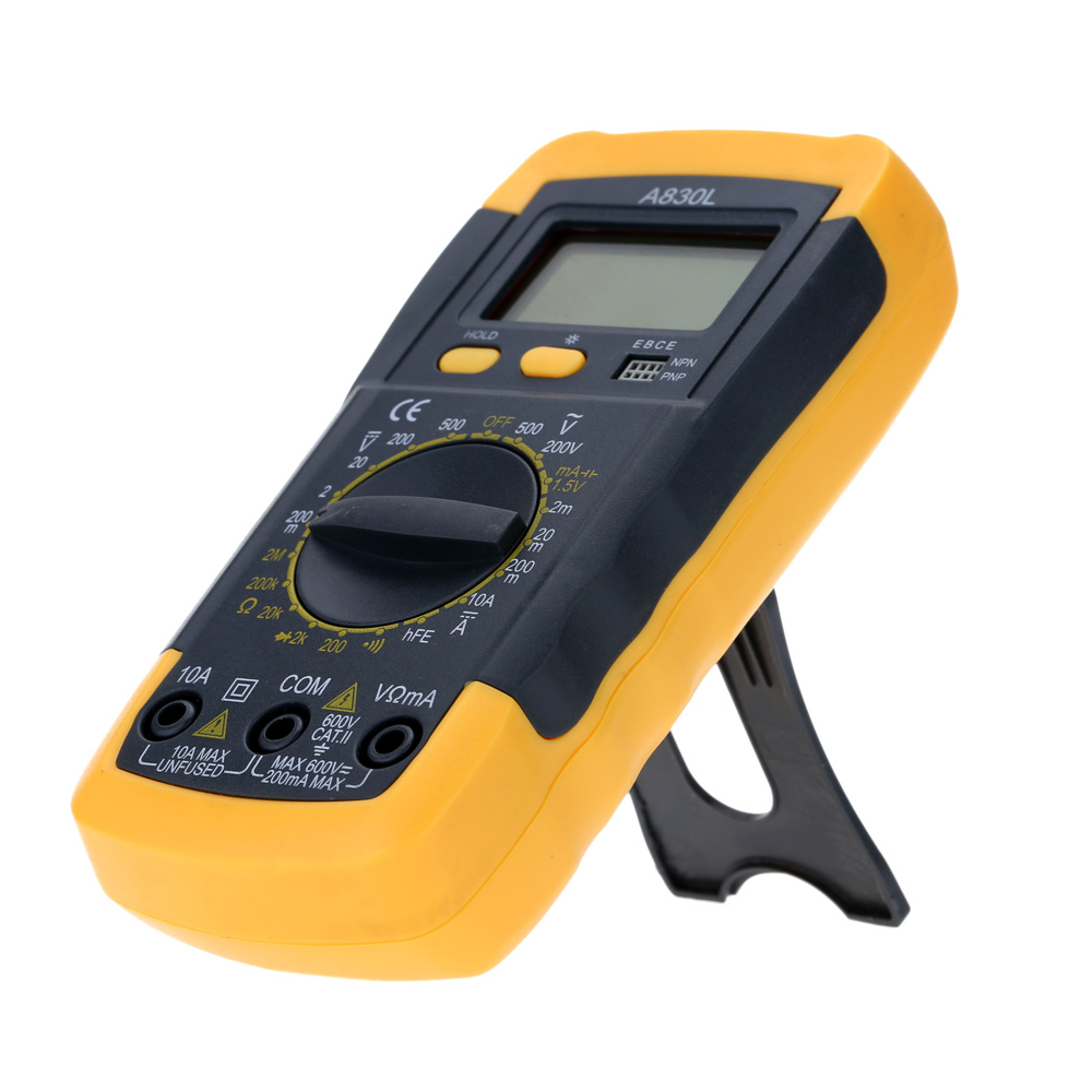 Lcd Digital Multimeter Voltmeter Ammeter Ohmmeter Tester For Ac Dc Ohm Circuit Checker Voltage Current Resistance Diode Continuity And Hfe Test