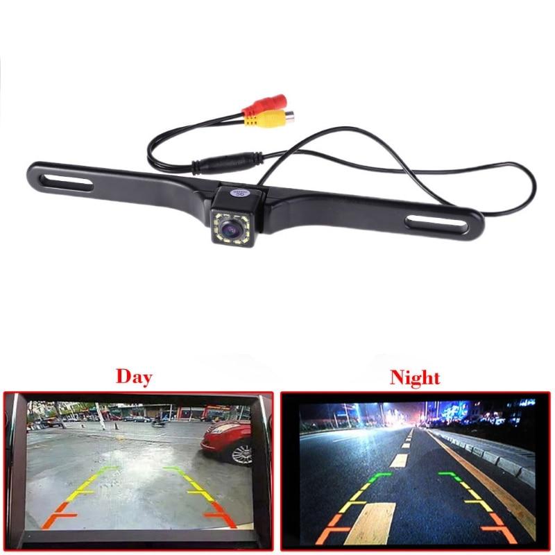 Night Vision 12 IR LED Car Rear View camera License Plate Frame Back Up Camera