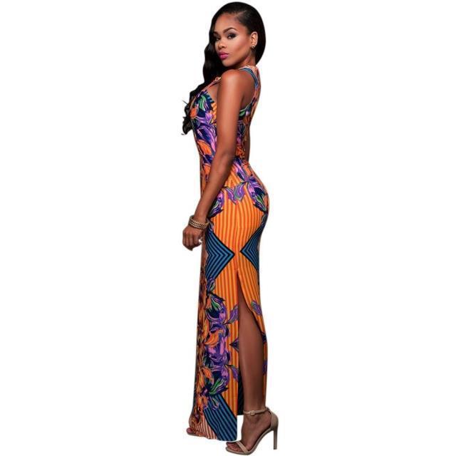 Women African Dashiki Print Dress