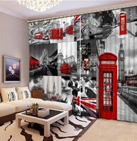 european style curtains Blackout 3d red car living room sheer curtains 3d curtains for bedroom