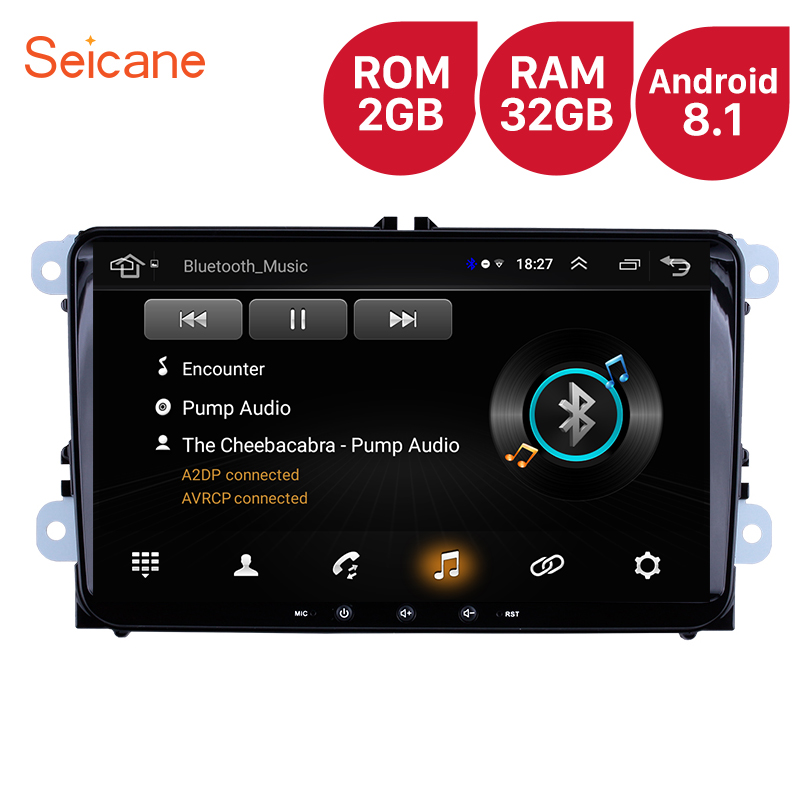 Hohe Version RAM 2GB ROM 32GB 9 zoll Android 8.1 Auto <font><b>Multimedia</b></font>-player Für VW/<font><b>Volkswagen</b></font>/<font><b>Golf</b></font> /Tiguan/Passat/b6 b5 Radio GPS image