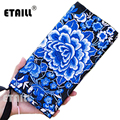 Peony Ethnic Embroidery Luxury Brand Clutch Bag Handmade Boho Embroidered Wallet Long Purse Coin Phone Bags Monederos Etnicos