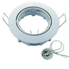 Регулируемый потолочный светильник с цоколем, галогенный светильник с кронштейном, алюминиевый светодиодный светильник GU10 MR16, точечный светильник, Ламповые Держатели