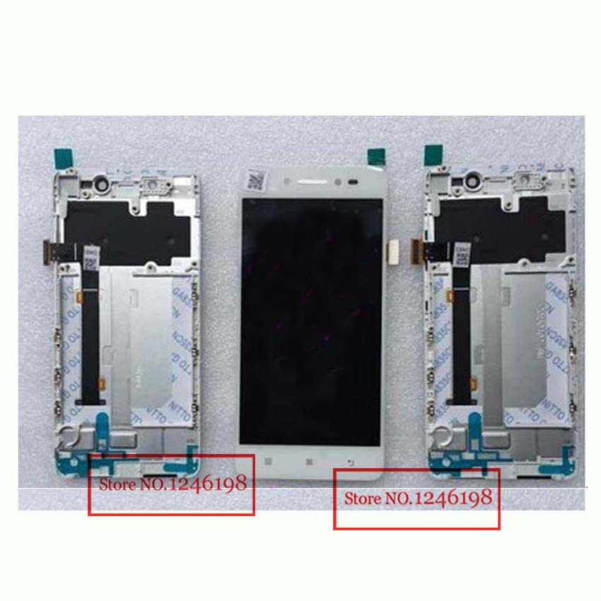 ФОТО Black White NEW Full LCD Display Touch Screen Digitizer Assembly + Frame / bezel For Lenovo S90 S90-T S90-U S90-E Free shipping