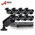 ANRAN 8-КАНАЛЬНЫЙ Камеры Безопасности Система AHD 1080N HDMI DVR 720 P 1800TVL ИК Открытый Камеры Главная Видеонаблюдения Комплекты E-Mail оповещения