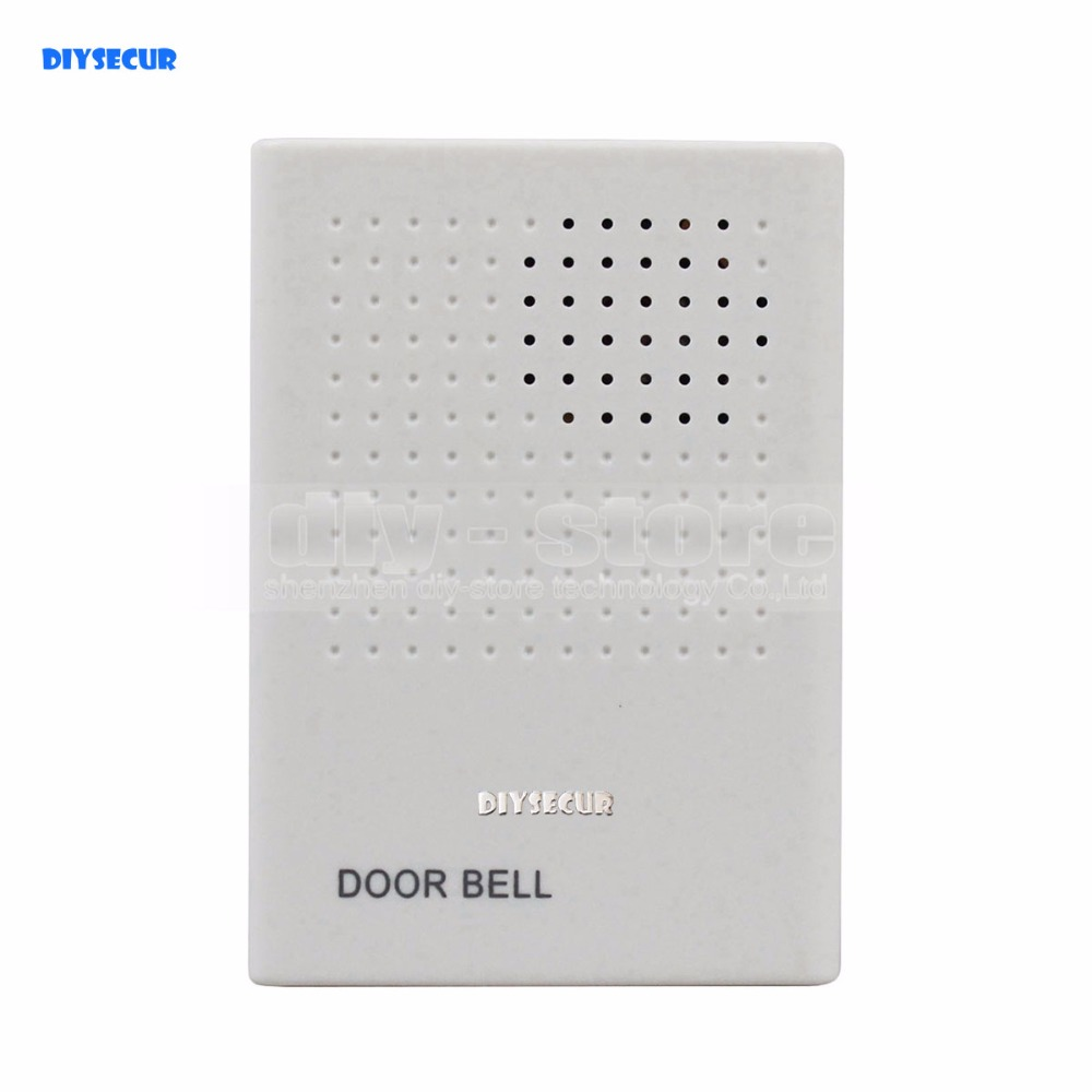 DIYSECUR High Quality DC12V Electronic Door Bell For Door Access Control System Kit White DIYSECUR High Quality DC12V Electronic Door Bell For Door Access Control System Kit White