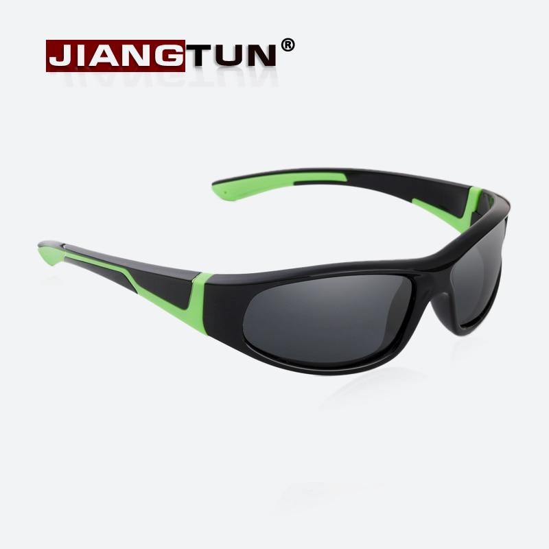 JIANGTUN Super Light Kids Sunglasses Polarized Children Outdoor Safety Glasses Brand Designer Flexible Rubber Oculos Infantil