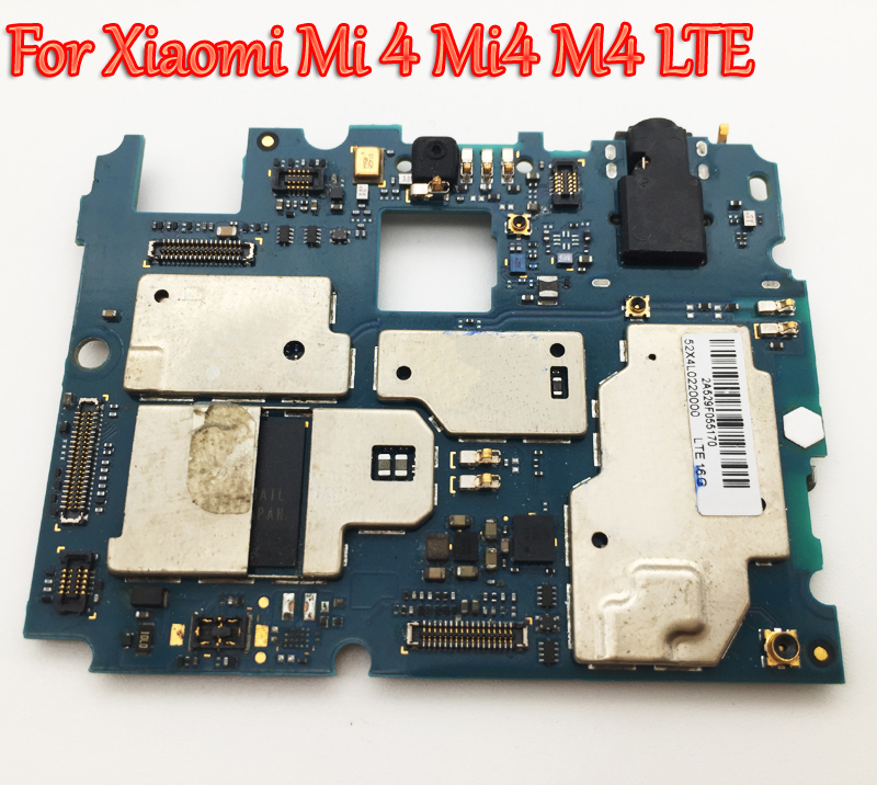 Tested Full Work Original Unlock Motherboard For Xiaomi Mi 4 Mi4 M4 LTE 4G Version Logic