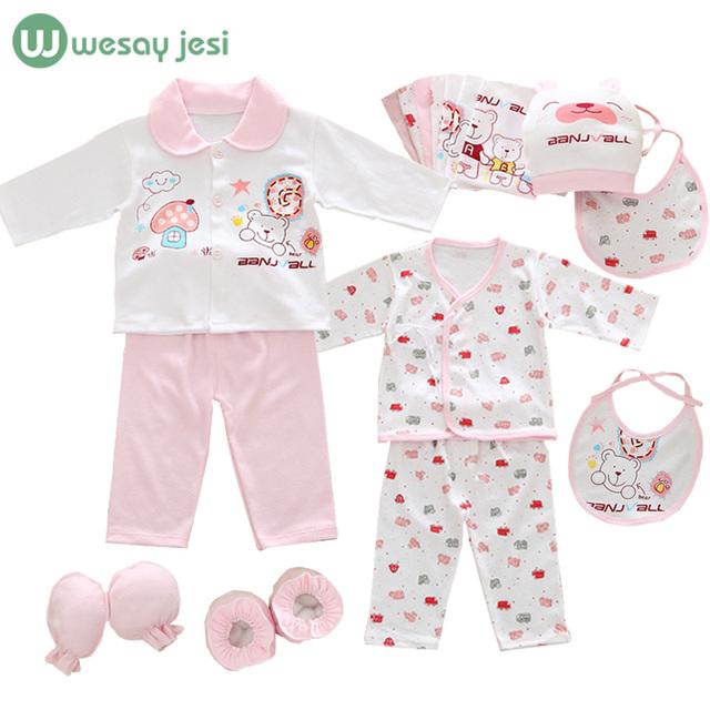 18 unids/set ropa de niña recién nacido 0-3 meses de manga larga de algodón bebé recién nacido regalo ropa fija el juego ropa infantil de verano
