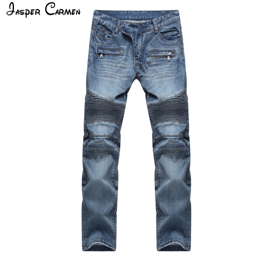 Free shipping 2017 New summer jeans men brand clothing solid thin denim pants male top quality stretch trousers 80z