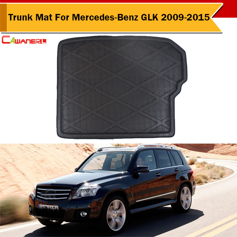 Cawanerl Car Rear Protector Trunk Luggage Mat Boot Tray Liner Carpet Easy Cleaning Car-Cover For Mercedes-Benz GLK 2009-2015
