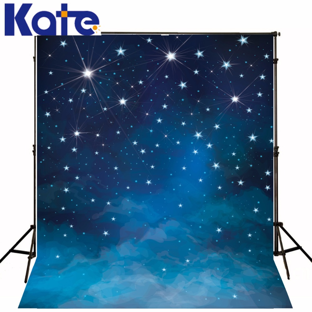 KATE Naturism Children Photos Bright Star Sky 3ds Background Scenic Backdrops Fairy Tale Backdrop Baby Photography Backdrops vinyl photography background fairy tale