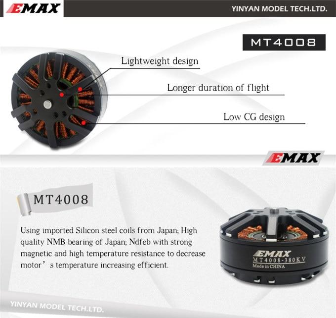 100% Original EMAX MT4008 380KV / 470KV / 600KV motor 4-6S for DIY FPV drone T810 T960 S800 hexacopter / S1000 Octocopter кухонная мойка ukinox stm 800 600 20 6