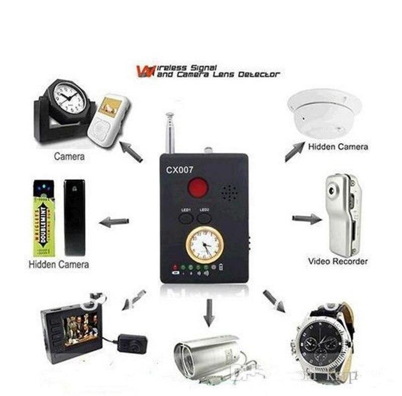 Camera Hidden Finder Anti Spy Bug Detector CX007 Mini Wireless Signal GSM GPS Device Privacy Blocker Radio Scanner Rf Spyfinder